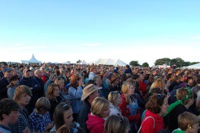 Crowds at Chagstock Music Festival